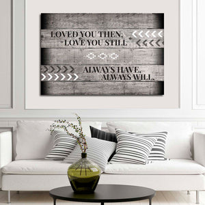 Love You Always Canvas Wall Art - Relationship