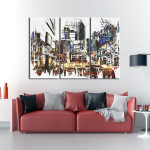 Lower Manhattan Multi Panel Canvas Wall Art - City