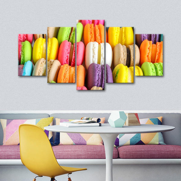 Luscious Macarons Multi Panel Canvas Wall Art