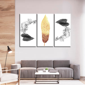 Luxe Botanical Multi Panel Canvas Wall Art - Botanical