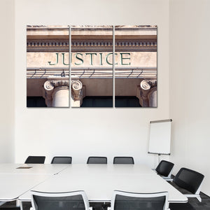 Justice Multi Panel Canvas Wall Art - Law