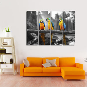 Macau Pop Multi Panel Canvas Wall Art - Bird