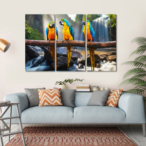Macau Multi Panel Canvas Wall Art - Bird