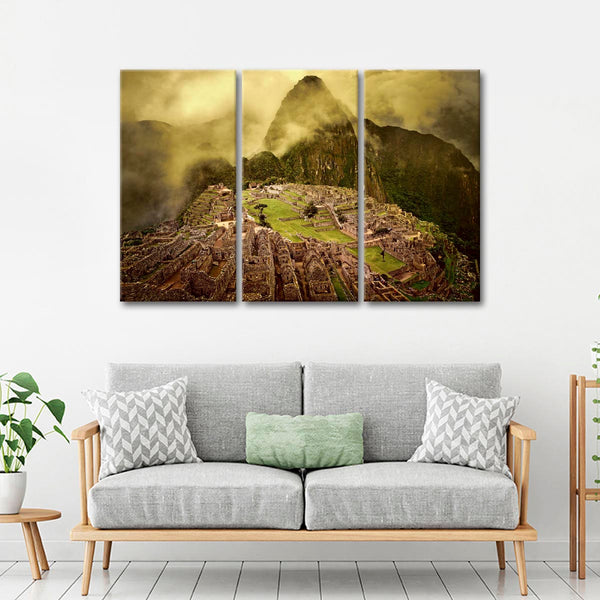 Machu Picchu Peru Multi Panel Canvas Wall Art Elephantstock
