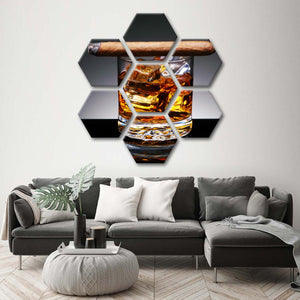 Mad Men Afternoon Multi panel Canvas Wall Art - Whiskey