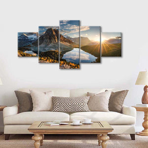 Lake Magog Multi Panel Canvas Wall Art - Nature