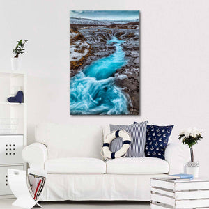 Majestic Iceland Stream Multi Panel Canvas Wall Art - Nature