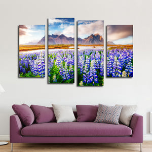 Majestic Lupines Multi Panel Canvas Wall Art - Nature