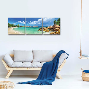Majestic Seychelles Multi Panel Canvas Wall Art - Beach