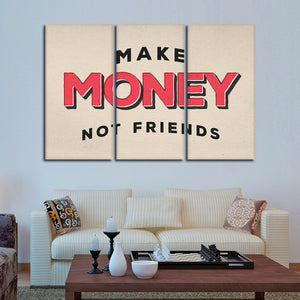 Make Money Multi Panel Canvas Wall Art - Entrepreneur