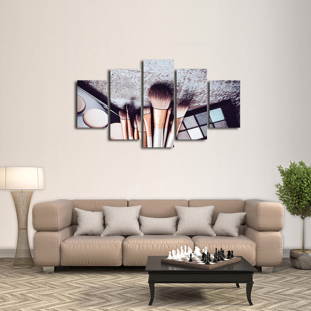 makeup is art multi panel canvas wall art elephantstock. Black Bedroom Furniture Sets. Home Design Ideas
