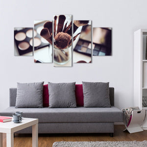 Makeup Lovers Multi Panel Canvas Wall Art - Makeup