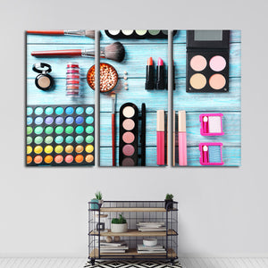 Makeup Haul Multi Panel Canvas Wall Art - Makeup