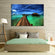 Maldives Bungalow Multi Panel Canvas Wall Art