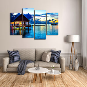 Maldives Multi Panel Canvas Wall Art - Beach