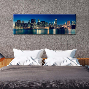 Manhattan Cityscape Multi Panel Canvas Wall Art - City