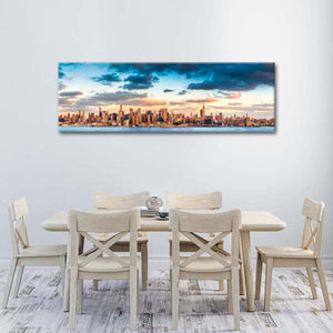 Manhattan Skyline Panorama Multi Panel Canvas Wall Art - City