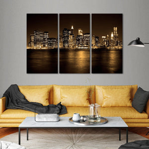 Manhattan Multi Panel Canvas Wall Art - City