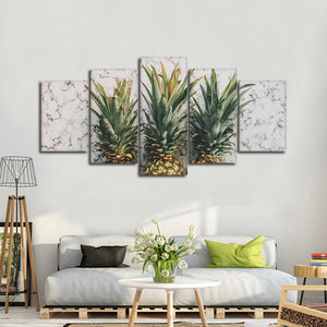 Marble Pineapple Multi Panel Canvas Wall Art - Pineapple
