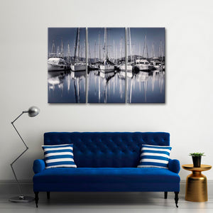 Maritime Multi Panel Canvas Wall Art - Boat