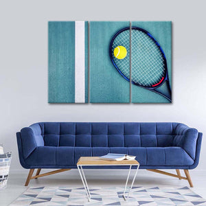 Match Point Multi Panel Canvas Wall Art - Tennis