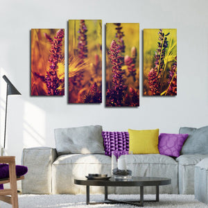 Meadow Daydream Multi Panel Canvas Wall Art - Flower