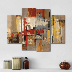 Melody for Guitar and Sax Multi Panel Canvas Wall Art - Abstract