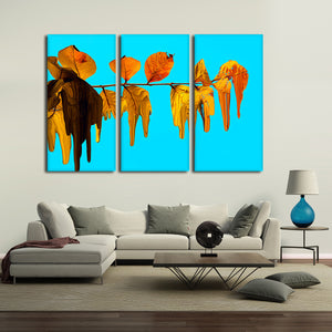 Melting Leaves Multi Panel Canvas Wall Art - Color