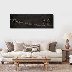 Meow Multi Panel Canvas Wall Art - Cat