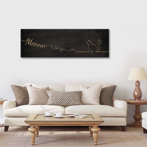 Meow Multi Panel Canvas Wall Art