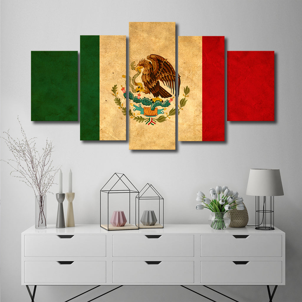 Mexican Flag Multi Panel Canvas Wall Art Elephantstock