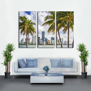 Miami Palms Multi Panel Canvas Wall Art - City