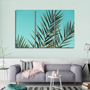 Miami Palm Leaves Multi Panel Canvas Wall Art - Botanical
