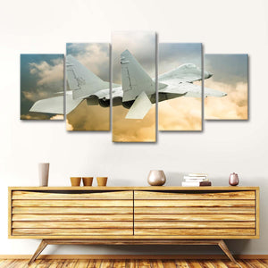 Military Aircraft Multi Panel Canvas Wall Art - Airplane