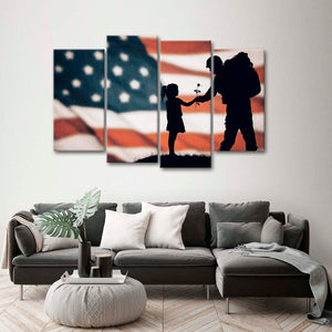 Military Dad Multi Panel Canvas Wall Art - Army