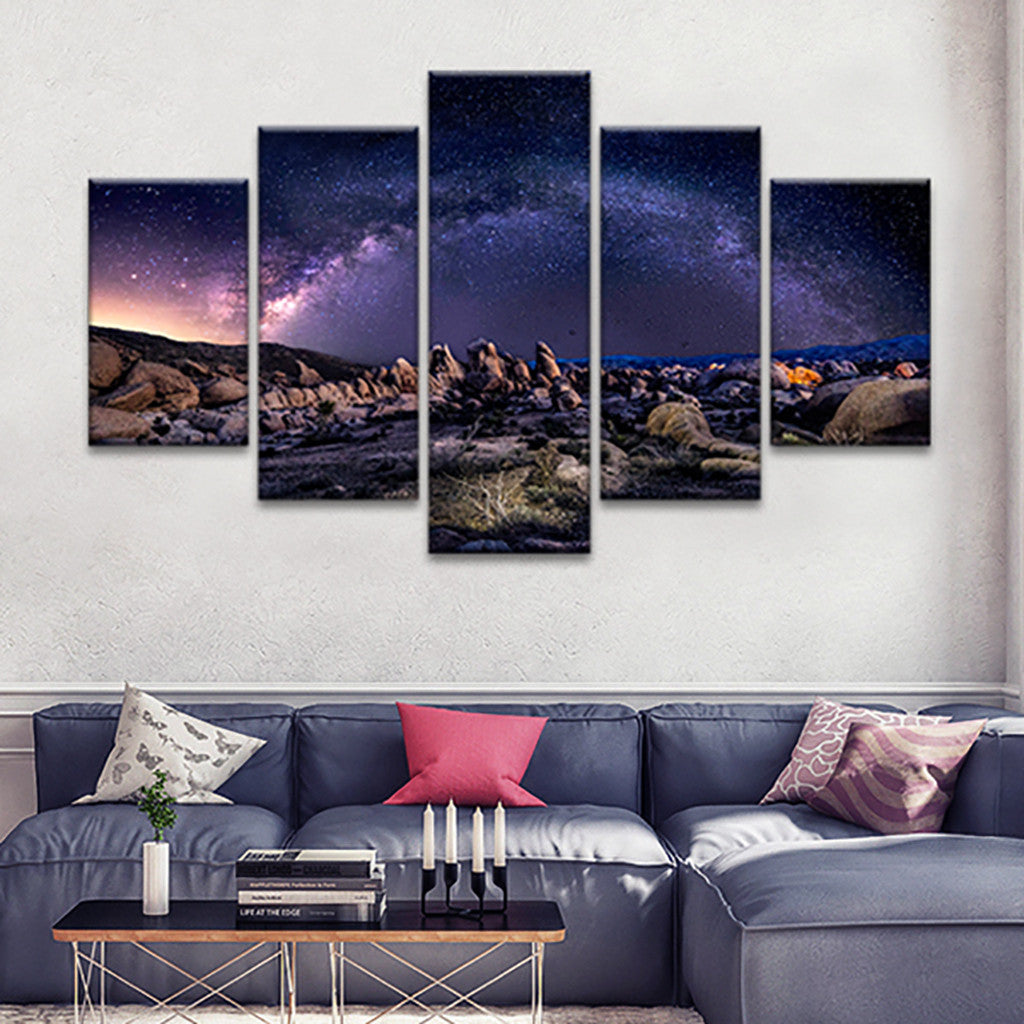 Milky Way Multi Panel Canvas Wall Art Elephantstock