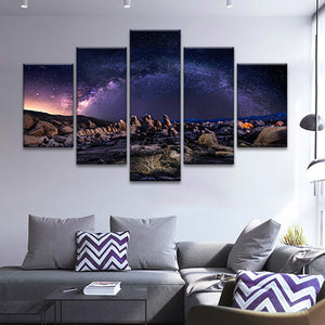 Milky Way Multi Panel Canvas Wall Art - Astronomy
