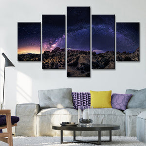 Milky Way Over Big Bend Multi Panel Canvas Wall Art - Astronomy