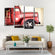 Miniature Fire Truck Multi Panel Canvas Wall Art