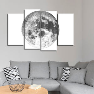 Minimalist Moon  Multi Panel Canvas Wall Art - Astronomy