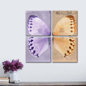 Miss Butterfly Formosana Multi Panel Canvas Wall Art - Animals