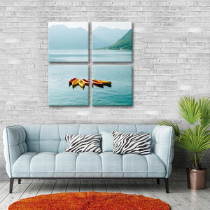 Misty Mountain Kayaking Multi Panel Canvas Wall Art - Kayak
