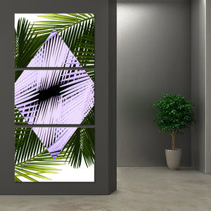 Mod Palms Multi Panel Canvas Wall Art - Botanical
