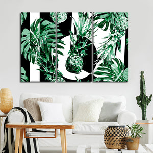 Mod Pineapples Multi Panel Canvas Wall Art - Pineapple