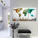 Modern Abstract World Map Masterpiece Multi Panel Canvas Wall Art