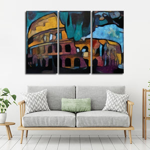 Modern Colosseum Multi Panel Canvas Wall Art - Abstract