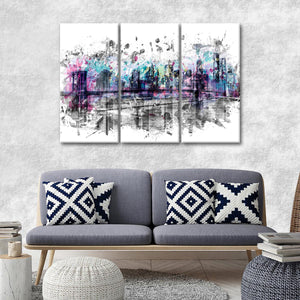 Modern NYC Multi Panel Canvas Wall Art - City