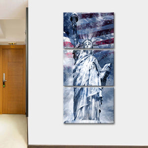 Modern View Statue of Liberty Multi Panel Canvas Wall Art - America