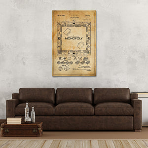 Monopoly Patent Canvas Wall Art - Patent