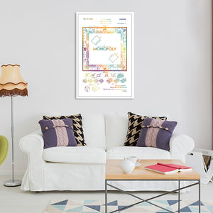Monopoly Patent Color Canvas Wall Art - Patent